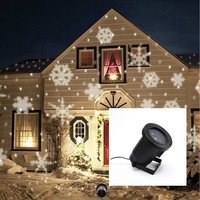 Indoor Outdoor Automatically LED Moving Snowflakes Spotlight Lamp Decoration christmas decorations for home