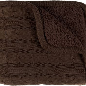 Tucker Textural Knitted Throw - Brown
