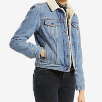 Levi's® Sherpa-Collar Denim Jacket | macys.com