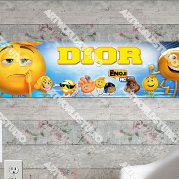 Personalized/Customized The Emoji Movie Poster, Border Mat and Frame Options Banner C19