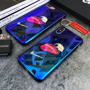 PEAPDQ7 Cool Mirror Nike * Supreme Print Iphone X 8 8 Plus 7 7 Plus 5 5S SE 6 6s Plus Case