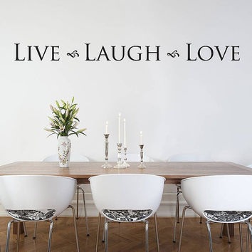 Wall Decal Vinyl Sticker Decals Art Decor Design Lettering Sign Live Laugh Love Letters Pattern Words Bedroom Living Room (r267)