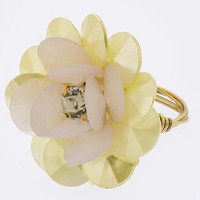 FACETED ACRYLIC FLORAL DESIGN RING
