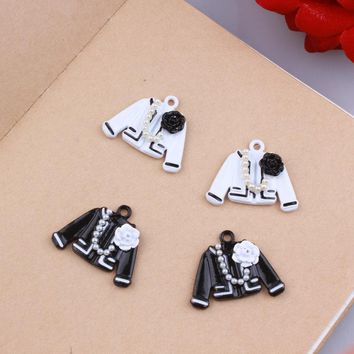 MRHUANG 10pcs/pack Colth Enamel Charms Alloy Oil drop Pendant fit for bracelet DIY Fashion Jewelry Accessories