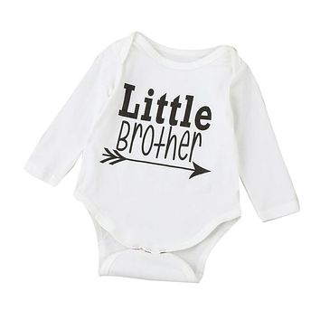 "3-18M ""LITTLE BROTHER"" Long Sleeve Onesuit"