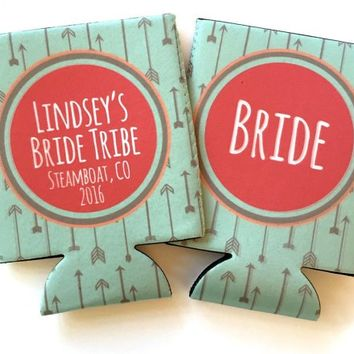 bachelorette party Bride tribe koozies, bride tribe coozies, | Brant Point Prep Custom Bachelorette Bachelor Birthday Koozies