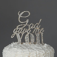 God Gave Me You Cake Topper - Gold