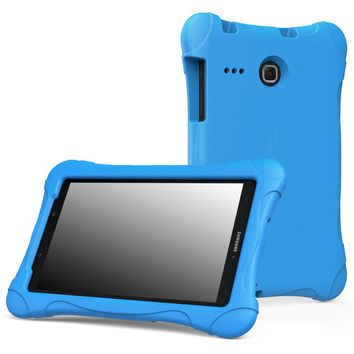 MoKo Samsung Galaxy Tab E 8.0 Case - Kids Friendly Lightweight Shockproof Protective Cover Case for Samsung Galaxy Tab E (Sprint / US Cellular / Verizon / AT&T) SM-T377 4G LTE 8.0 Inch Tablet BLUE