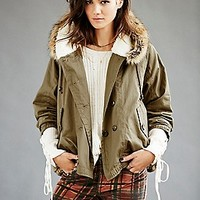 Free People  Keep Me Warm Hooded Parka at Free People Clothing Boutique