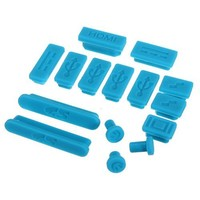 "Water & Wood 12-Pieces Silicone Anti Dust Plug Ports Cover Set For Macbook retina 13"" 15"" air 11"" 13"