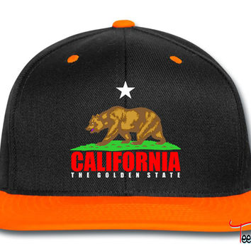california white and red bear Snapback