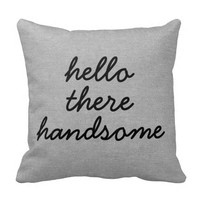 Hello there handsome rustic chic burlap linen jut