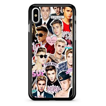 Justin Bieber Collage iPhone X Case