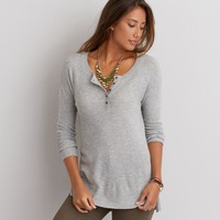 AEO HENLEY PULLOVER SWEATER