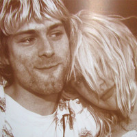 Kurt Cobain Courtney Love Poster