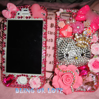 bling pink hello kitty iPhone 4/4s case Diamond Crystal