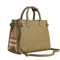 DCCK Tote Bag Handbag Burberry Medium Banner in Leather and House Check PALE PISTACHIO GREEN Item 39970611