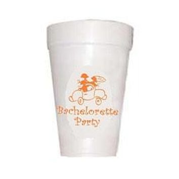 Bachelorette Party Styrofoam Cups
