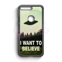 I Want To Believe Ufo Aliens Google Pixel XL Case | aneend.com