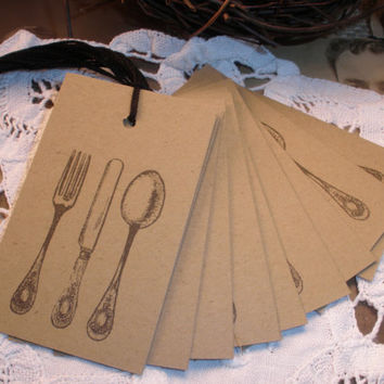 Silverware Kraft Tags Set of 100