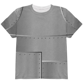 Halloween Robot Rivets Costume Steel All Over Youth T Shirt