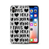 Paris Tokyo London New York- Clear Case Cover