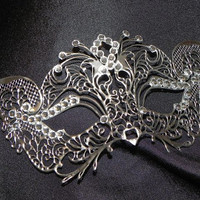Petite Silver or Gold Metallic Masquerade Mask