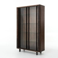 ALFA BOOKCASE WITH GLASS SHELVES