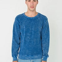 Acid Wash Drop-Shoulder Sweater