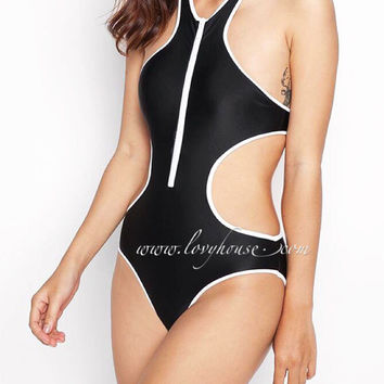SALE - 15% off for any 3 items - Cut out swimwear, one piece sexy beach wear, Trendy Bikini, Bathing suite, bodysuit
