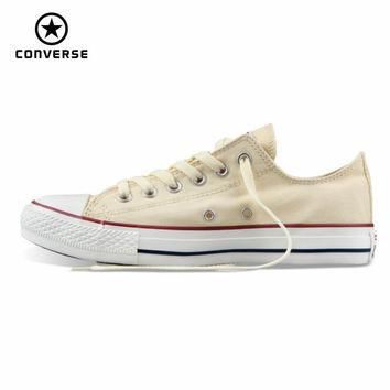 Original Converse all star men's and women's sneakers canvas shoes for men women low c