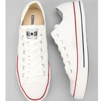 "White ""Converse"" Fashion Canvas Flats Sneakers Sport Shoes"