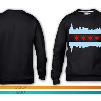 Chicago Flag Skyline crewneck sweatshirt