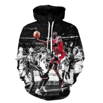 Fashion Jordan Hoodies Men 3d Print Painting Sweatshirt Designer Men's Sweatshirts Crewneck Men/women's Harajuku Hoody M64
