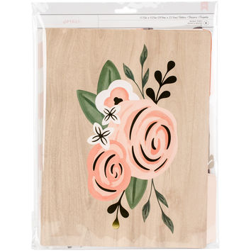 American Crafts Designer Desktop File Folders 6/Pkg-Rose