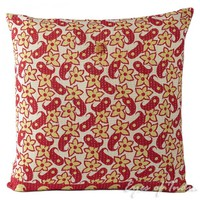 """24"""" Colorful Pillow Cushion Cover with Kantha Embroidered"""