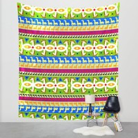African Unicorn pattern Wall Tapestry by That's So Unicorny