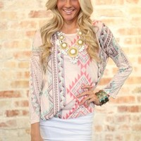 Feelin Spring Aztec Top