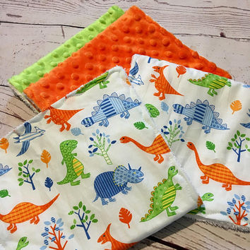 Baby Burp Cloths,Handmade Burp Pads,Baby Boy,Baby Shower Gift,Dinosaur Prints,Baby and Child Care,Baby Accessories,Burping Baby,Burp  Rags