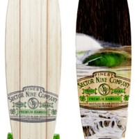 "Sector 9 Ireland 38"" Bamboo Complete Longboard - silver trucks / green wheels - Skate Shop > Completes > Longboard Completes"