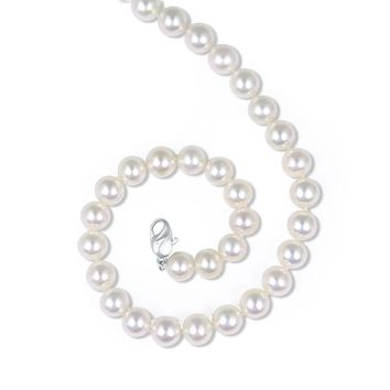 Honora 7-7.5mm White Freshwater Cultured Pearl Necklace