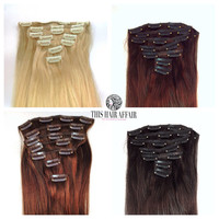 "18-22"" Clip In Hair Extensions - 100% Human Hair - 100g - Customizable Color - Straight Hair"