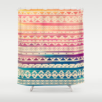 SURF TRIBAL II Shower Curtain by Nika