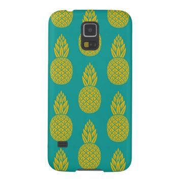 Tropical Hawaiian Pineapple Pattern Galaxy S5 Case