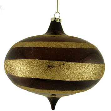 """6-Piece Shiny and Matte Copper Glass Ball Christmas Ornament Set 3.25"""" (80mm)"""