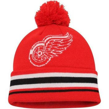 ONETOW NHL Detroit Red Wings Face-Off Cuffed Knit Hats