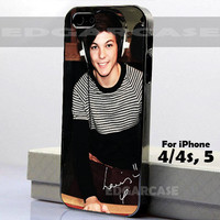 Louis Tomlinson - One Direction - 1D - Hard Cover - For iPhone 4 / 4S , iPhone 5 - Black / White Case