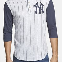 Men's Red Jacket 'New York Yankees - Double Play' Jersey Henley