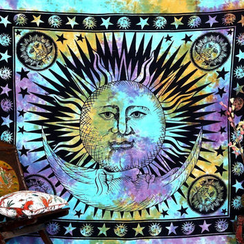 Psychedelic Celestial Sun Hippie Tapestry Wall Hanging