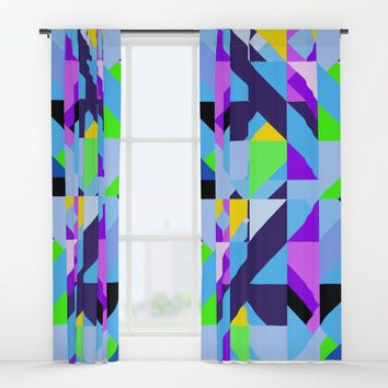 Geometric XIX Window Curtains by tmarchev
